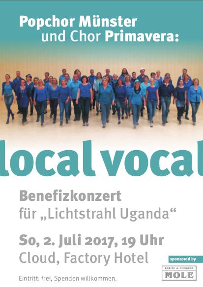 Ankündigung => local vocal